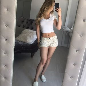 Love Fire Floral Shorts